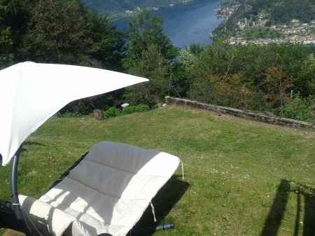 View from Hotel Serpiano, Monte San Giorgio, Unesco, Switzerland