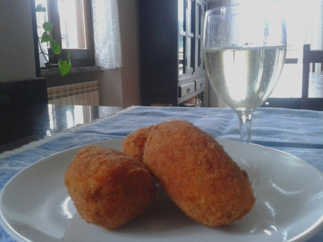 suppli', rice croquettes