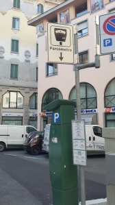 PARKING METER IN ITALY, DRIVING IN ITALY