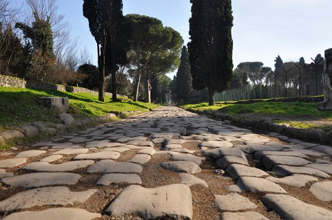 via appia antica, appian way, driving in italy