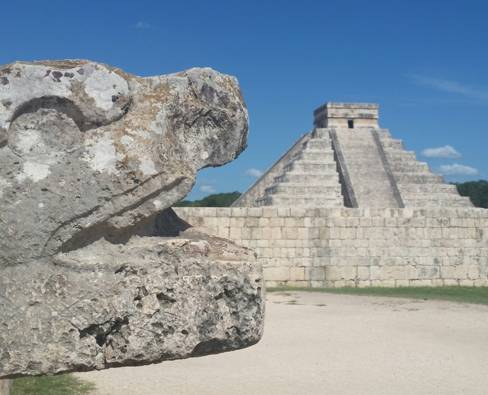 chichen itza Temple of Kukulkan, also known as El Castillo.