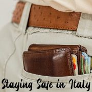 Staying safe in Italy by avoiding pickpockets and other criminals.