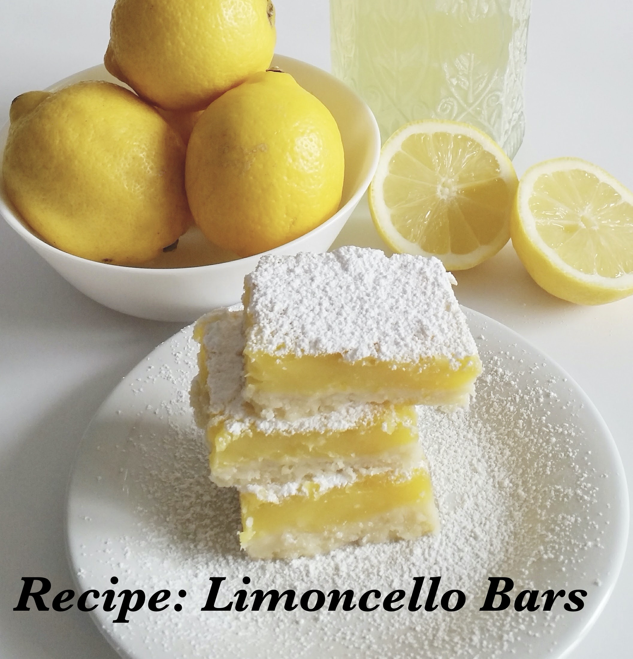 Recipe for Limoncello Bars